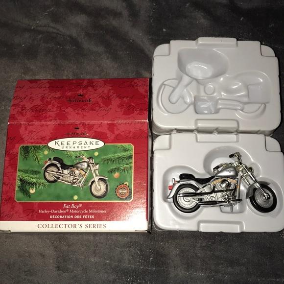 Hallmark Other - Vintage hallmark Harley Davidson fat boy ornament